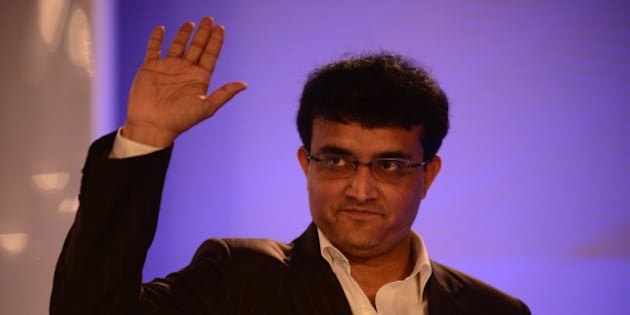 NEW DELHI, INDIA  NOVEMBER 21: Former Indian cricketer Sourav Ganguly at Hindustan Times Leadership Summit 2014 on November 21, 2014 in New Delhi, India. (Photograph by Pradeep Gaur/Mint Via Getty Images)