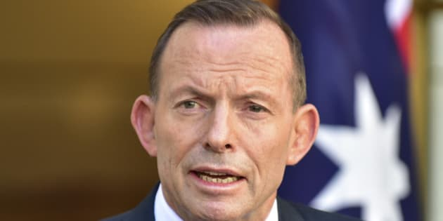Outgoing Australian Prime Minister Tony Abbott speaks during a press conference at Parliament House in Canberra, Australia, Tuesday, Sept. 15, 2015. Malcolm Turnbull will be sworn in as Australia's 29th prime minister on Tuesday after a surprise ballot of his conservative Liberal Party colleagues voted 54-to-44 on Monday night to replace Prime Minister Abbott only two years after he was elected. (AP Photo/Rob Griffith)