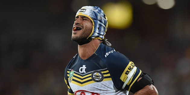 BRISBANE, AUSTRALIA - SEPTEMBER 12:  Johnathan Thurston of the Cowboys looks dejected during the NRL Qualifying Final match between the Brisbane Broncos and the North Queensland Cowboys at Suncorp Stadium on September 12, 2015 in Brisbane, Australia.  (Photo by Matt Roberts/Getty Images)