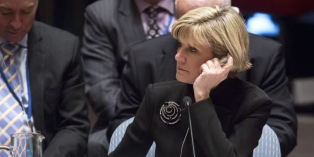 Australia's Foreign Minister Julie Bishop listens during a meeting on Iraq in the U.N. Security Council, Friday, Sept. 19, 2014 at the United Nations headquarters.  (AP Photo/Bebeto Matthews)