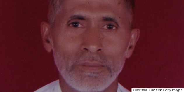 GREATER NOIDA, INDIA - SEPTEMBER 29: File photo of 50-year-old man Mohammad Akhlaq, he was killed by a mob over an allegation of storing and consuming beef at home, late night on Monday, on September 29, 2015 in Greater Noida, India. Akhlaq was beaten to death and his son critically injured by a mob over an allegation of storing and consuming beef at home, late night on Monday, in UPs Dadri. Police and PAC were immediately deployed in the village to maintain law and order. Six persons were arrested in connection with the killing of man. (Photo by Burhaan Kinu/Hindustan Times via Getty Images)