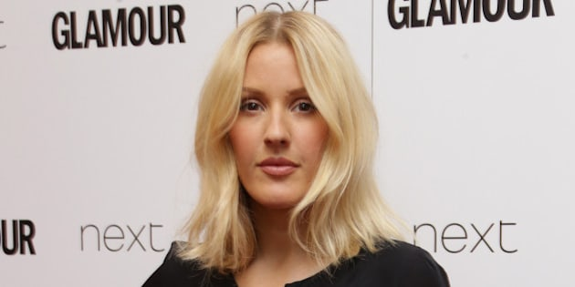 FILE - In this June 2, 2015 file photo, Ellie Goulding poses for photographers upon arrival at the Glamour Women Of The Year Awards in London. Goulding and rock band Train are performing Thursday, Sept. 10, 2015, at Justin Herman Plaza in San Francisco's Embarcadero district before the Pittsburgh Steelers take on the New England Patriots at Gillette Stadium in Foxborough, Mass. (Photo by Joel Ryan/Invision/AP, File)