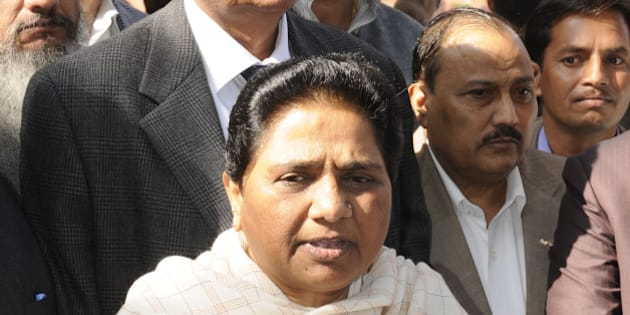 NEW DELHI, INDIA  DECEMBER 11: Bahujan Samaj Party chief Mayawati during the Parliament winter session.(Photo by Yasbant Negi/India Today Group/Getty Images)