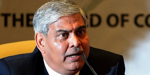 Board of Control for Cricket in India (BCCI) president Shashank Manohar speaks after taking charge at the Indian cricket board's headquarters at the Wankhede stadium in Mumbai on October 4, 2015. Manohar became the new BCCI chief at a special general meeting on October 4, after the last BCCI chief Jagmohan Dalmiya, 75, died in September.   AFP PHOTO / INDRANIL MUKHERJEE        (Photo credit should read INDRANIL MUKHERJEE/AFP/Getty Images)