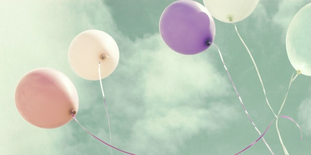 Colorful vintage pastel balloons