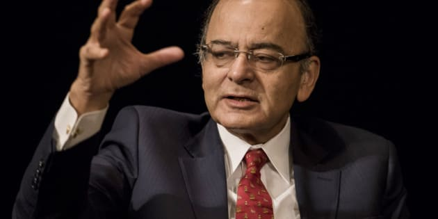 Arun Jaitley, India's finance minister, speaks during the Asia Pacific Investors Cooperation India summit in Hong Kong, China, on Monday, Sept. 21, 2015. India needs lower interest rates, and the central bank must decide how much to cut, Jaitley said. Photographer: Xaume Olleros/Bloomberg via Getty Images