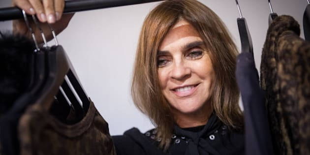 PARIS, FRANCE - SEPTEMBER 30:  Carine Roitfeld attends the Carine Roitfeld Collection For Uniqlo : Presentation as part of the Paris Fashion Week Womenswear Spring/Summer 2016 on September 30, 2015 in Paris, France.  (Photo by Francois Durand/Getty Images)