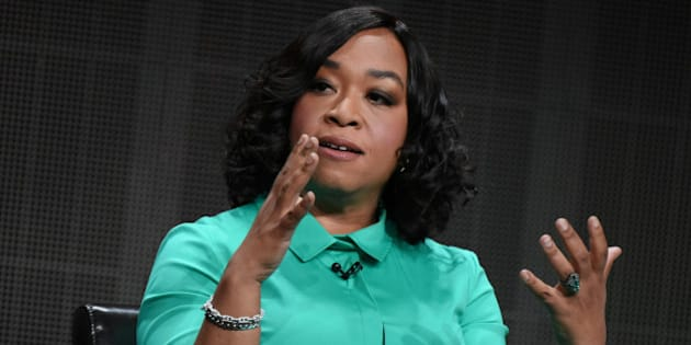 "Creator/Executive Producer Shonda Rhimes speaks onstage during the ""Grey's Anatomy,"" ""Scandal,"" and ""How to Get Away with Murder"" panel at the Disney/ABC Summer TCA Tour held at the Beverly Hilton Hotel on Tuesday, August 4, 2015, in Beverly Hills, Calif. (Photo by Richard Shotwell/Invision/AP)"