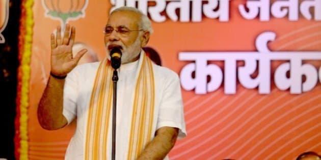Shri Narendra Modi addressing BJP Karyakarta Sammelan in Goa