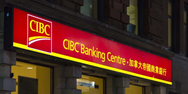 TORONTO, ONTARIO, CANADA - 2015/08/15: The CIBC Banking centre in Toronto. The Canadian Imperial Bank of Commerce is one of Canada's chartered banks. It is headquartered at Commerce Court in Toronto and is fifth largest by deposits. (Photo by Roberto Machado Noa/LightRocket via Getty Images)