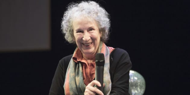 VANCOUVER, BC - MAY 22:  'Pauline' librettist Margaret Atwood speaks at the CIty Opera Vancouver's 'Pauline' media call at the York Theatre on May 22, 2014 in Vancouver, Canada.  (Photo by Phillip Chin/WireImage)