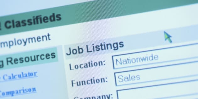 Online employment classifieds search engine