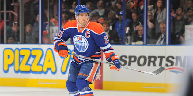 EDMONTON, AB - SEPTEMBER 21: Andrew Ference #21 of the Edmonton Oilers skates during a preseason game against the Calgary Flames on September 21, 2015 at Rexall Place in Edmonton, Alberta, Canada. (Photo by Andy Devlin/NHLI via Getty Images)