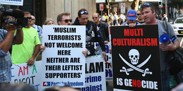 Anti-Muslim Protest from Australia