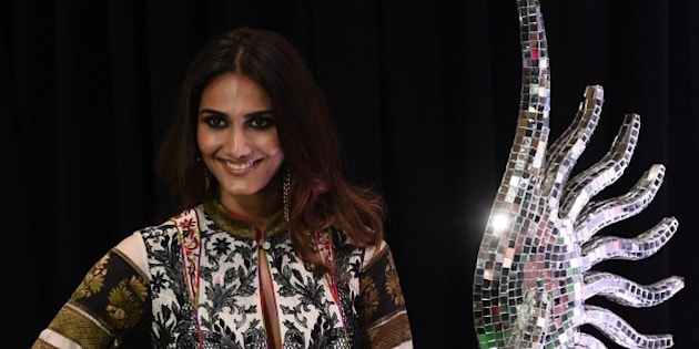 Bollywood actress Vaani Kapoor poses on the green carpet at the Tampa Convention Center ahead of IIFA Rocks on the second day of the 15th International Indian Film Academy (IIFA) Awards in Tampa, Florida, April 24, 2014. AFP PHOTO JEWEL SAMAD        (Photo credit should read JEWEL SAMAD/AFP/Getty Images)