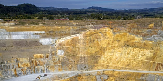 The open-pit Martha gold mine, situated in the centre of the town of Waihi.