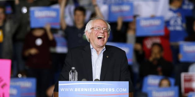 """In this Oct. 3, 2015, photo, Democratic presidential candidate, Sen. Bernie Sanders, I-Vt,  speaks during a campaign rally in Springfield, Mass. Sanders and his campaign team have a relatively simple plan for his debut appearance in a nationally televised debate: """"Let Bernie be Bernie."""" It's a strategy aides say fueled Sanders' rise in the Democratic primary campaign, where the often-disheveled, 74-year-old Vermont senator has won the hearts of his party's base with an unapologetically liberal message.  (AP Photo/Michael Dwyer)"""