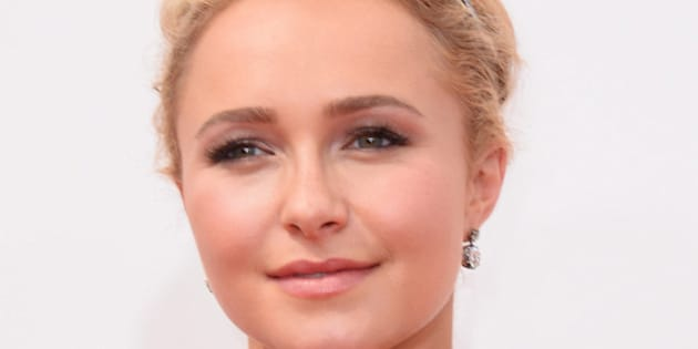 Hayden Panettiere arrives at the 66th Annual Primetime Emmy Awards at the Nokia Theatre L.A. Live on Monday, Aug. 25, 2014, in Los Angeles. (Photo by Jordan Strauss/Invision/AP)