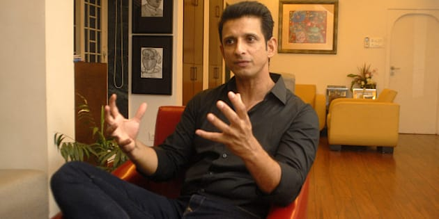 MUMBAI, INDIA - APRIL 7: Bollywood actor Sharman Joshi at his Carter Road residence at Bandra on April 7, 2015 in Mumbai, India. (Photo by Prodip Guha/Hindustan Times via Getty Images)