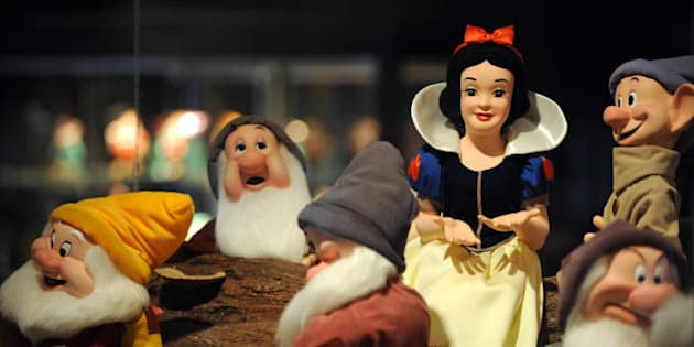 A statue of Snow White and the Seven Dwarfs owned by Michael Jackson is seen on display in Beverly Hills, California, April 13, 2009. Thousands of items owned by Jackson will be auctioned off starting April 22, 2009 by Julien's Auction and could raise between 10 and 20 million dollars.The jewel-encrusted glove is the most iconic piece, it's estimate is between 10 and 15,000 dollars, but it could easily sell for something in the region of 100 to 200,000 dollars. The Beverly Hills exhibition of Jackson items going under the hammer give a rare insight into the pop star's former life at Neverland. Extraordinarily elaborate costumes,  a customised Rolls Royce limousine, antique furniture, lifesize statues of superheroes and Star Wars villains, from Batman to Darth Vader, and a fully equipped computer game arcade are among the lots. AFP PHOTO / GABRIEL BOUYS (Photo credit should read GABRIEL BOUYS/AFP/Getty Images)