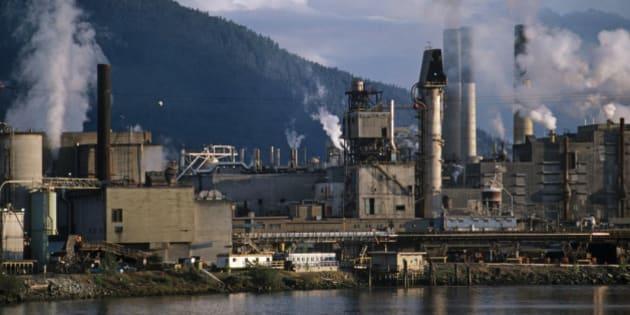 Lumber mill, British Columbia, Canada