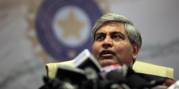 Board of Control for Cricket in India (BCCI) head Shashank Manohar speaks during a media conference in Mumbai, India, Saturday, July 3, 2010. India's cricket board ratified the charges against suspended Indian Premier League commissioner Lalit Modi who faces allegations of financial irregularities and reconstitutes an inquiry committee to probe the charges. (AP Photo/Rajanish Kakade)