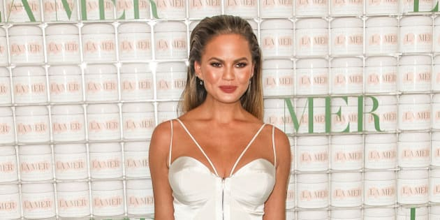 """Chrissy Teigen  attends the La Mer """"Celebration of an Icon"""" Event at Siren Studios on Tuesday, Oct. 13, 2015, in Los Angeles. (Photo by Paul A. Hebert/Invision/AP)"""