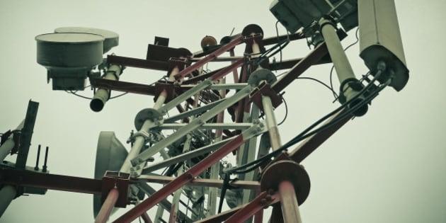 A mobile company tower, signal receiver, Pune, Maharashtra, India