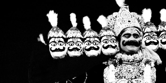 Ravana in Ramleela, Dassera festival, Mumbai, Maharashtra, India, 1984    (Photo by Jagdish Agarwal/Dinodia Photos/Getty Images)