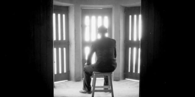 UNSPECIFIED - 1930:  Waiting room of prison. RV-220872.  (Photo by Gaston Paris/Roger Viollet/Getty Images)