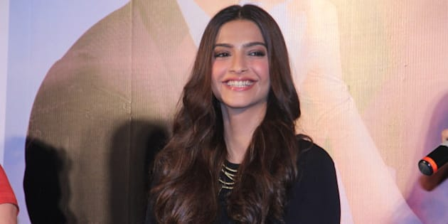 MUMBAI, INDIA - SEPTEMBER 1: Bollywood actor Sonam Kapoor during the launch of Dheere Dheere se, music video recreated by Yo Yo Honey Singh on September 1, 2015 in Mumbai, India. The song chosen is from the 1990 film Aashiqui. (Photo by Pramod Thakur/Hindustan Times via Getty Images)