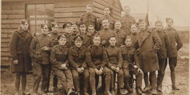 image above: Unknown British Army troops 1914-18.  The Caption reads: Hut 27 Yate Jan 19th 1919.  (any information please?)