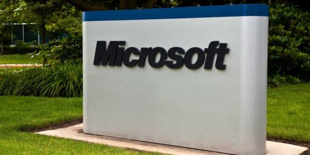Microsoft Corporation Campus Sign  Redmond Washington