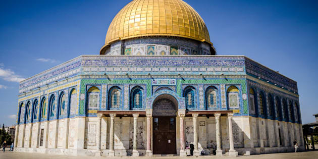 Dome of the rock at Temple Mount in Jerusalem