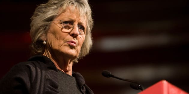 MELBOURNE, AUSTRALIA - AUGUST 22:  Germaine Greer speaks at The Age Book of the Year Awards as part of the opening night of the Melbourne Writers Festival on August 22, 2008 in Melbourne, Australia.  (Photo by Kane Hibberd/Getty Images)