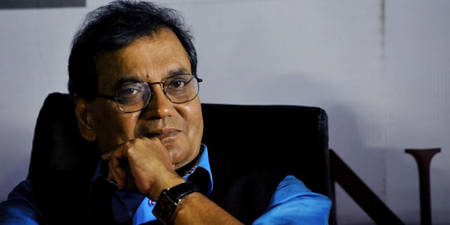 Indian Bollywood film producer and director Subhash Ghai poses for a photograph during a promotional event for his forthcoming Hindi film KAANCHI in Mumbai on late  March 6, 2014. AFP PHOTO/STR        (Photo credit should read STRDEL/AFP/Getty Images)