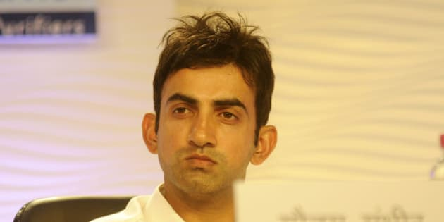 LUCKNOW, INDIA - SEPTEMBER 26: Indian cricketer Gautam Gambhir during the Hindustan Shikhar Samagam, at Vivanta by Taj, on September 26, 2015 in Lucknow, India. 'Hindustan Shikhar Samagam' is set to convene in Lucknow with its theme, 'Hindustan ki tarakki ka naya daur'. This platform has more than 300 guests from the fields of politics, bureaucracy, industry, public life, sports, academia and entertainment. ABP News and Hindustan have come together to raise questions in the states of Uttar Pradesh and Bihar with their programmes. (Photo by Deepak Gupta/Hindustan Times via Getty Images)
