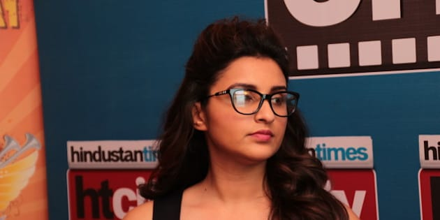 NEW DELHI, INDIA - NOVEMBER 11: Bollywood actor Parineeti Chopra during an exclusive interview for her upcoming movie Kill Dil at HT Media Office on November 11, 2014, New Delhi, India. (Photo by Shivam Saxena/Hindustan Times via Getty Images)