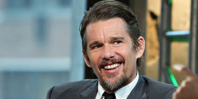 NEW YORK, NY - MAY 11:  Actor Ethan Hawke discusses his new Film 'Good Kill' during the AOL BUILD Speakers Series: Ethan Hawke and Andrew Niccol at AOL Studios In New York on May 11, 2015 in New York City.  (Photo by Cindy Ord/Getty Images)