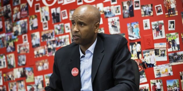 TORONTO, ON - OCTOBER 21: Ahmed Hussen, who was just elected to the House of Commons for York South-Weston, sits in his campaign office on Lawrence Avenue.        (Melissa Renwick/Toronto Star via Getty Images)
