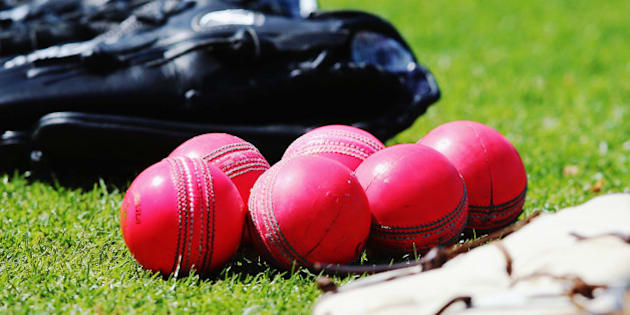 HAMILTON, NEW ZEALAND - OCTOBER 08:  New pink cricket balls are seen during a New Zealand cricket training session at Seddon Park on October 8, 2015 in Hamilton, New Zealand. The new pink ball will be used during the upcoming test series against Australia.  (Photo by Hannah Peters/Getty Images)
