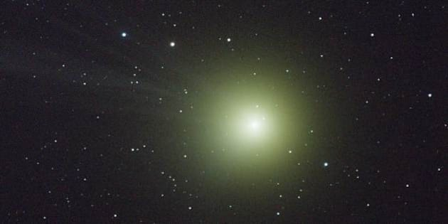 Image of Comet Lovejoy taken Saturday, January 10, by Dr. Bill Cooke. Image is a 3 minute exposure using the iTelescope T3 refractor. At the time of this image, the comet was some 45 million miles from Earth.