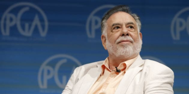 Francis Ford Coppola speaks on stage at the Produced By Conference - Day 2 at Warner Bros. Studios on Sunday, June 8, 2014, in Burbank, Calif. (Photo by Todd Williamson/Invision for Producers Guild of America/AP Images)