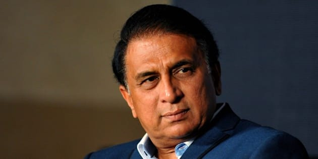 Former Indian cricketer Sunil Gavaskar looks on during the launch of a new album Khamoshi Ki Awaz by Ghazal maestro Pankaj Udhas in Mumbai late November 7, 2014. AFP PHOTO/STR        (Photo credit should read STRDEL/AFP/Getty Images)