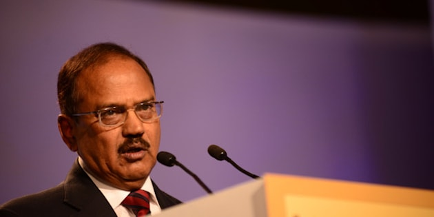 NEW DELHI, INDIA  NOVEMBER 21: Ajit Doval, Indian intelligence officer at Hindustan Times Leadership Summit 2014 on November 21, 2014 in New Delhi, India. (Photograph by Pradeep Gaur/Mint Via Getty Images)