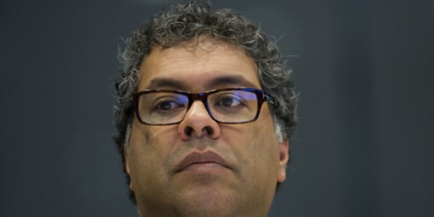 Naheed Kurban Nenshi, mayor of Calgary, listens during an interview in New York, U.S., on Monday, June 1, 2015. Nenshi is the first Muslim mayor of a major North American city. Photographer: Victor J. Blue