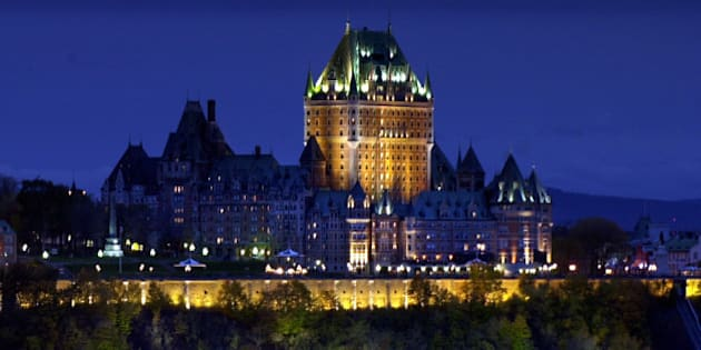 **  TO GO WITH STORY SLUGGED CANADA QUEBEC 400 AÑOS **  **  FILE  ** In this file photo from Oct. 23, 2003, the Chateau Frontenac rises above the fortified walls of Quebec City, Quebec. (AP Photo/Robert F. Bukaty)