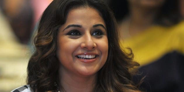 Indian Bollywood actress Vidya Balan attends a panel session on handlooms organized by FICCI Ladies Organization (FLO) in Hyderabad on September 3, 2015. AFP PHOTO/NOAH SEELAM        (Photo credit should read NOAH SEELAM/AFP/Getty Images)