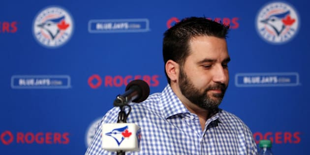 Toronto, Canada - July 31  - Blue Jays General Manager Alex Anthopoulos speaks to the media after trade deadline at the Rogers Centre in Toronto on July 31, 2015.        (Cole Burston/Toronto Star via Getty Images)