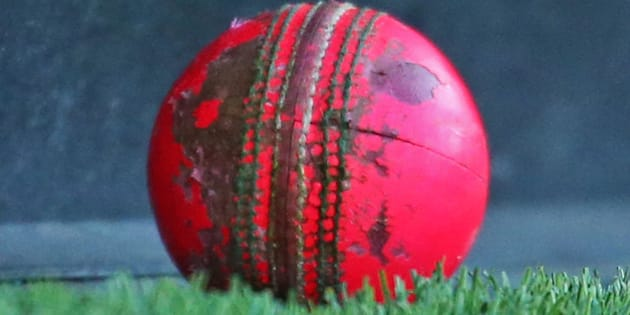 MELBOURNE, AUSTRALIA - OCTOBER 28:  A detailed view of the worn pink cricket ball after it was hit to the boundary at 5:39PM, half way through the second session of the day during day one of the Sheffield Shield match between Victoria and Queensland at Melbourne Cricket Ground on October 28, 2015 in Melbourne, Australia.  (Photo by Scott Barbour/Getty Images)
